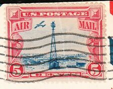 Airport Dedication Air Mail C11 Ware County EFO Stamp Paper Crease Waycross z7