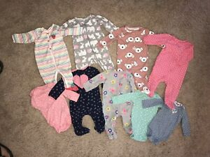 Baby Girl 9 pc. CARTER'S Clothing Lot ~ Size 6 months ~ EXCELLENT CONDITION!!