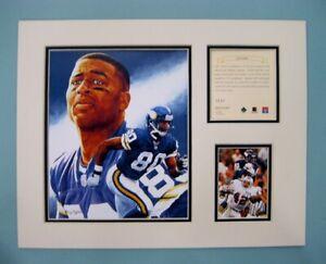 Minnesota Vikings Chris Carter 1996 Football 11x14 MATTED Kelly Russell Print