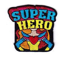 """SUPER HERO"" Iron On Patch Movies Comics Cartoons"