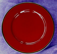 Fitz & Floyd HATTORI CINNABAR Charger Plate   EXCELLENT