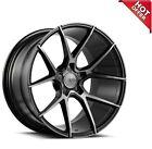 4Ea 21 Savini Wheels Black Di Forza Bm14 Gloss Black With Ddt Rims S13