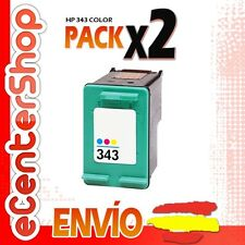 2 Cartuchos Tinta Color HP 343 Reman HP Photosmart 2575