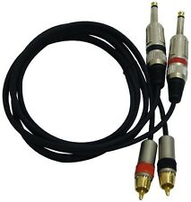 NEW Pyle PPRCJ05 Dual 5ft. Professional Audio Link Cable 1/4'' Male to RCA Male