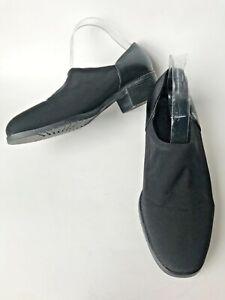 Womens Shoes 9.5W Munro America Black Leather & Fabric Slip On Comfort