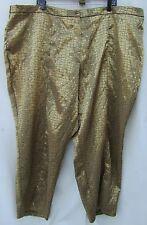 Gold VENEZIA Lane Bryant Reptile Snake Print Career Pants STRETCH SPRING Size 28