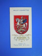 ORIGINAL CIGARETTE CARD: Wills - Arms of Foreign Cities - Moscow No.49