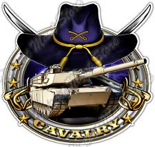 "Cavalry Military US Army Tank Sword Hat War Car Bumper Vinyl Sticker Decal 4.6"""
