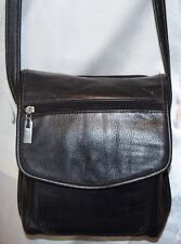 ST JOHNS BAY LEATHER ORGANIZER CROSS BODY HANDBAG BLACK SEE PICS FOR ALL SPECS