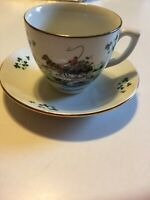 Vintage Carrigaline Pottery Ireland Horse Wagon Porcelain Cup & Saucer Gweedore