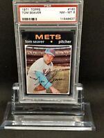 1971 Topps #160 Tom Seaver - HOF - Mets - PSA 8 - NM-MT - 11548637 - (SCA)