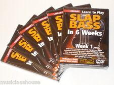 6 DVD SET LICK LIBRARY PHIL WILLIAMS SLAP BASS GUITAR In 1 2 3 4 5 6 Weeks DVD