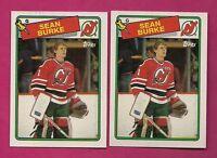 2 X 1988-89 TOPPS # 94 DEVILS SEAN BURKE  ROOKIE NRMT-MT CARD (INV# A5769)