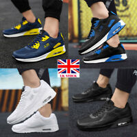 MENS AIR SHOCK ABSORBING RUNNING TRAINERS CASUAL LACE UP GYM SPORTS SHOES SIZE