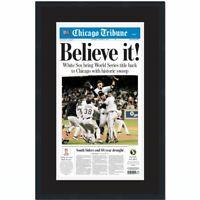 Framed Chicago Tribune Believe White Sox 2005 World Series Newspaper 17x27 Photo