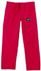 Gelscrubs Doctor Nurse Georgia Bulldogs Unisex Medical Scrub Pants sz 2XL