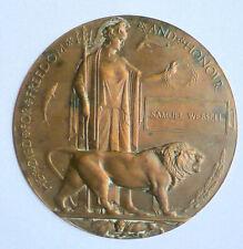 More details for memorial plaque - samuel websell (unique)