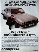 1982 FORD 'Capri 2.8i' Jackie Stewart Car Ad. - Good Year Tyres Advert Print