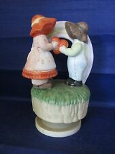 """Let Me Call you Sweetheart"" Music Box by Brinnis Couple with Heart & rainbow"