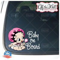 "Baby Betty Boop ""Baby on Board "" - Awareness Warning Sign Vinyl Sticker"