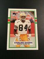 1989 Topps # 379 STERLING SHARPE ROOKIE RC Football Card HOF Nice LOOK !