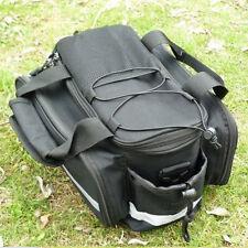 Cycling Bicycle Bike Rear Seat Trunk Handbag Saddle Bag Pannier Waterproof Black