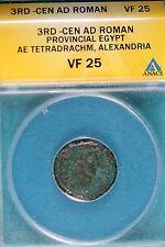3RD-CEN AD ANACS VF25 Roman Provincial Egypt Alexandria!! #B7744