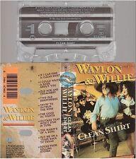 WILLIE NELSON cassette K7 tape CLEAN SHIRT waylon jennings
