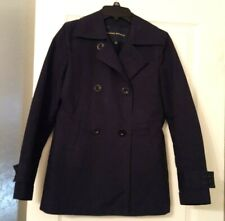 Banana Republic Navy Blue Peacoat Trenchcoat 100% Cotton Jacket Size XS EUC