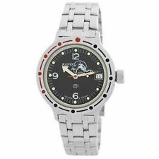 Vostok Amphibian 420634 Watch Russian Military Scuba Dude Diver Watch Black