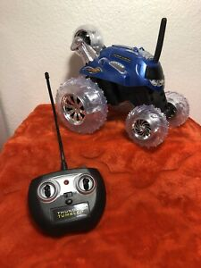 Sharper Image Blue THUNDER TUMBLER Car & Remote Control Tested And Working P1