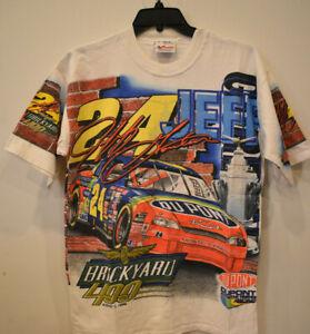 NEW Vintage 1998 JEFF GORDON  Brickyard Nascar All Over Print Tee Shirt MED