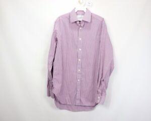 Charles Tyrwhitt Mens 15 38 Long Sleeve Casual Button Dress Shirt Checkered
