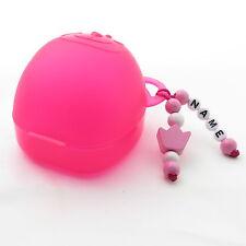 ❤❤❤❤ Schnullerbox für Unterwegs Aufbewahrung Nuckelbox ❤ Baby ❤ Krone rosa ❤❤❤❤