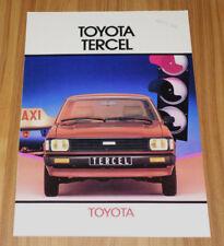 Catalogue TOYOTA TERCEL L10 de 1981