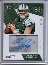 2015 Panini Clear Vision Auto RC BRYCE PETTY /50 Autograph Rookie Card JETS