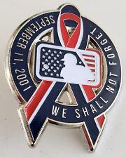 MLB-9-11 REMEMBRANCE SEPT 11TH GAME PATRIOTIC RIBBON PIN FREE SHIPPING!!