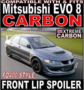 """Carbon FQ400 Style Front Lip Spoiler Splitter """"Fits"""" Mitsubishi Evo EVOLUTION 8"""