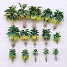 15pcs Palm Trees Scale N Z 1:100-1:300 Model Train Tropical Forest Landscape