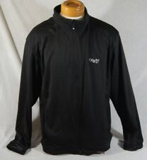 Footjoy Dryjoy Black Full Zip Jacket Men's Size Large Drawstring Waist