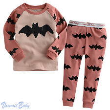 "Vaenait Baby Toddler Kids Girls Boys Clothes Pajama Set ""Bat Pink"" S(2T)"