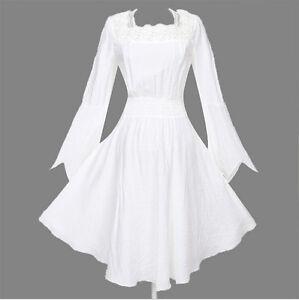 Women Punk Victorian Lace Top White Shirt Gypsy Tunic Nightclubs Blouse Clubwear