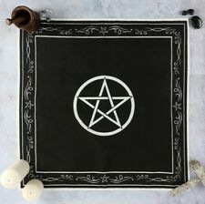 Pentagram Altar Cloth gothic wall hanging Black Magic Witch Wicca star Spell Emo