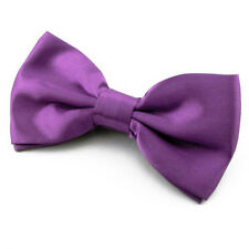 NOEUD PAPILLON pour Homme ou Femme en Satin violet - Purple Bowtie Men Women
