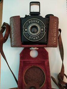 DDR Kamera Karl Pouva Start Freital 1:8 Leder-Tasche Bakelit Rollfilmkamera