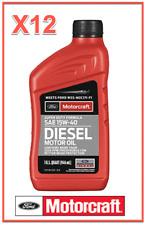 12 Quarts Diesel Engine Motor Oil FORD Motorcraft SAE15W-40 Super Duty