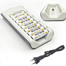 8Slots Wiederaufladbar Batterie Akku SmartFast Ladegerät Für AA/AAA NiCd Nimh EU