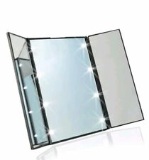 Make Up Mirror 8 LED Light Illuminated Cosmetic Tabletop Beauty Vanity Foldable