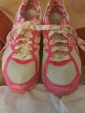 Asics Gel GT-1000 T4L8N White Pink Breast Cancer Running Shoes Sz 7