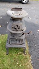 ANTIQUE SMALL CAST IRON ATLANTA STOVE WORKS POT BELLY #60 COAL WOOD STOVE